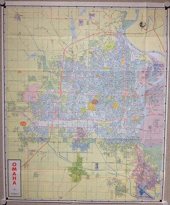 1977 AAA Map of Omaha , Nb by Ashburn Maps