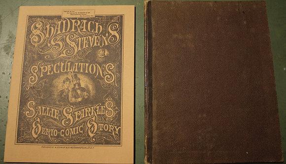 Shadrach Stevens Speculations Sally Sparkles Serio-Comic Story, 1877