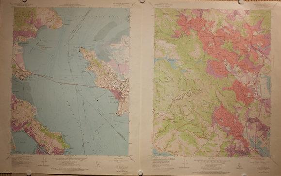 San Rafael 7.5 Minute Sheets, 1954 & 1959