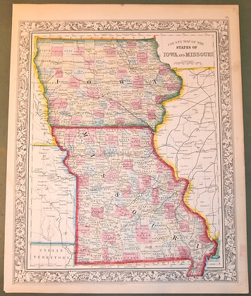 Iowa and Missouri, 1860