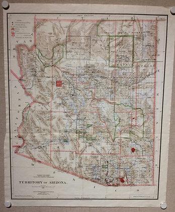 1896 GLO Map of the Territory of Arizona