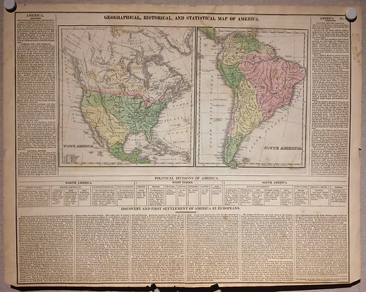 1821 North and South America