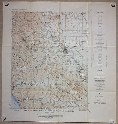 1952 Economic & geologic Maps of Sebastopol, CA - 2 sheets