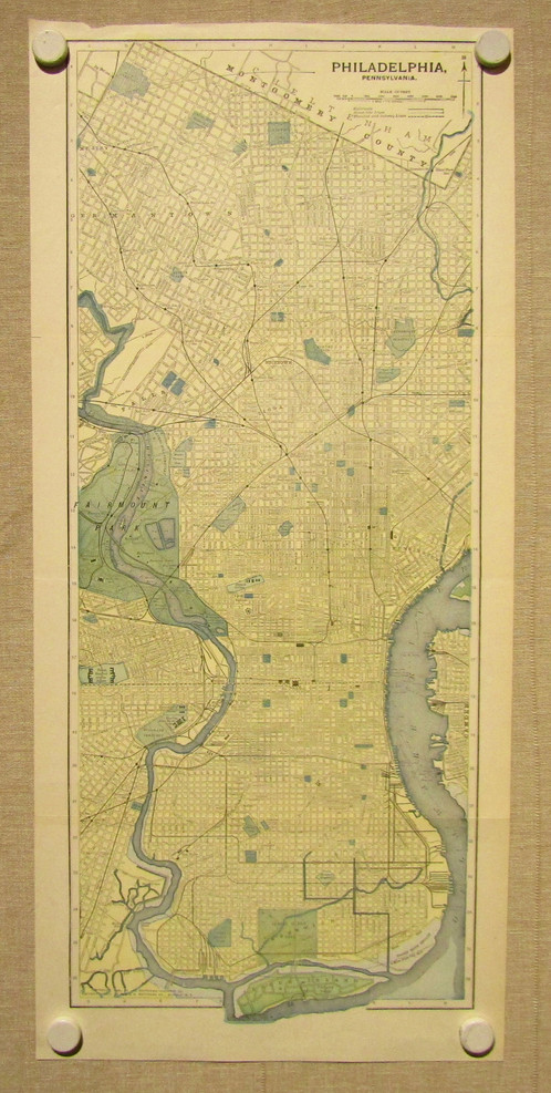 Antique Map of Philadelphia 1903 Old Maps Schein Schein