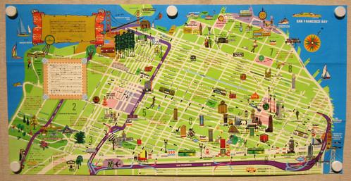 Japanese Map of San Francisco Old Maps Schein Schein Antique