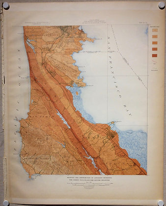 1908 EQIC Map of Southern SF and San mateo County w/ San Andreas fault intensity