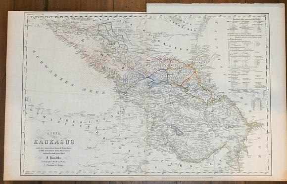 Karte de Kaukass (Map of the Cacusos)