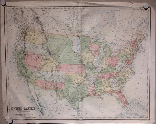 1862 US and Its Territories by Swanston-London