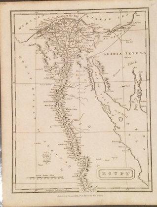 1817 Map of Egypt by Arrowsmith of London
