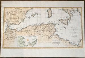 Carte de la Partie de l'Afrique ou les Cartaginion