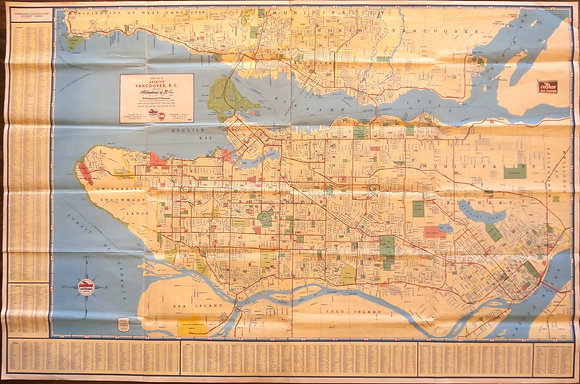 Street Map of Greater Vancouver, BC