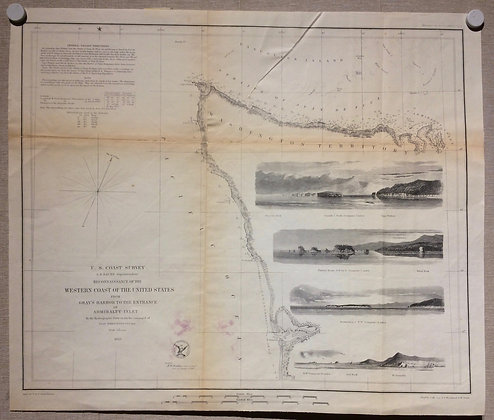 """1853 USCS Reconnaisance """"from Gray's Harbor to the entrance of Admiralty Inlet ,"""