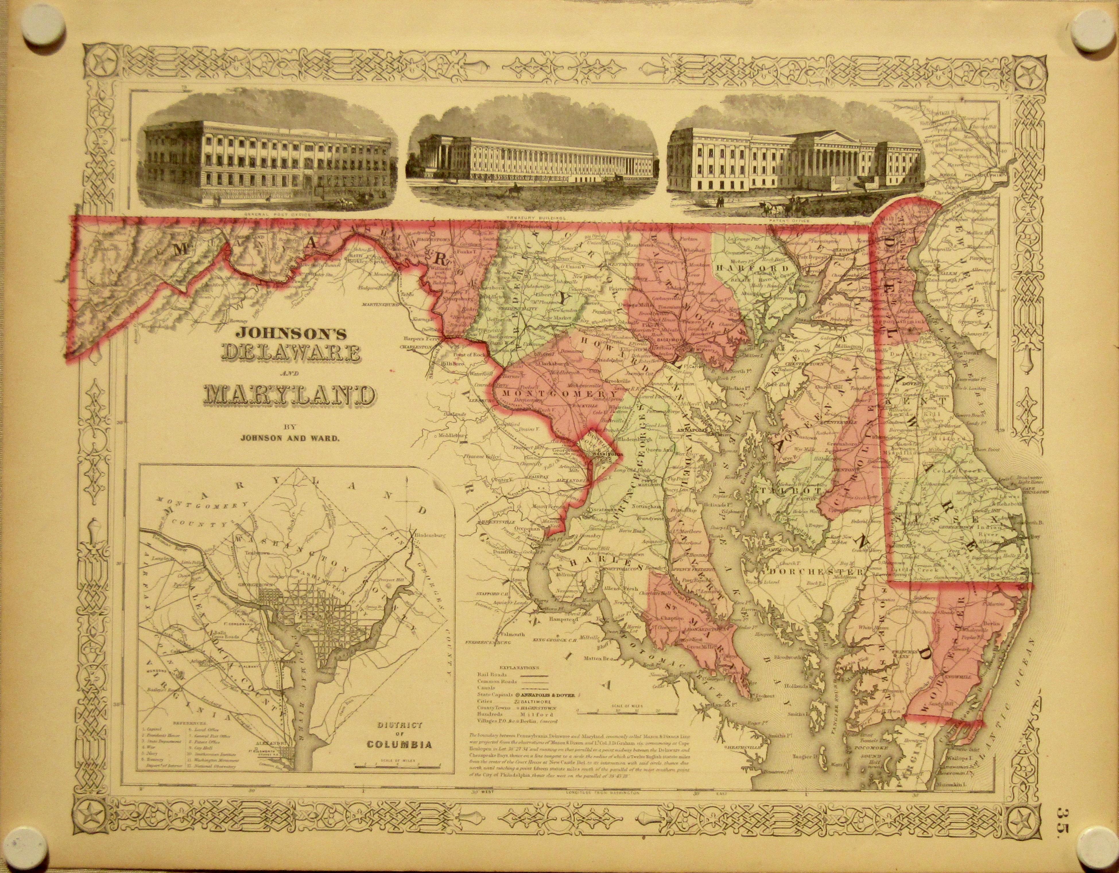 Delaware & Maryland, 1864