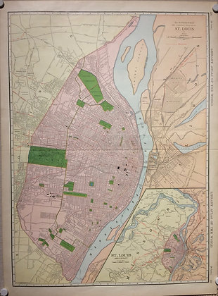 1912 St Louis by Rand McNally