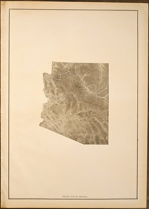 Arizona Relief Map, 1912