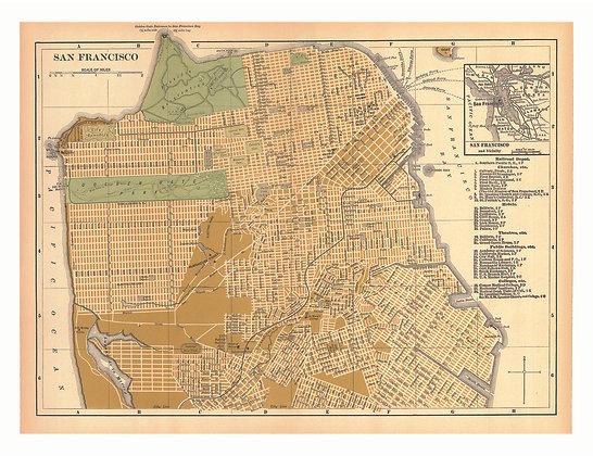 San Francisco AJ Johnson (offset lithograph)