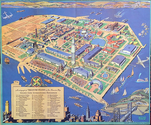 1939 Guide Map to the Golden Gate International Exposition