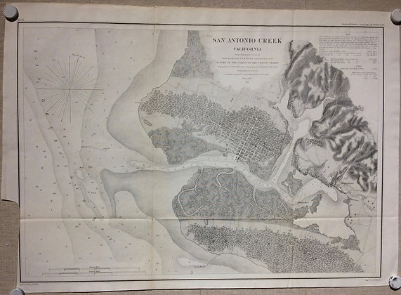 1857 USCS San Antonio Creek chart with Oakland, Brooklyn, Alameda