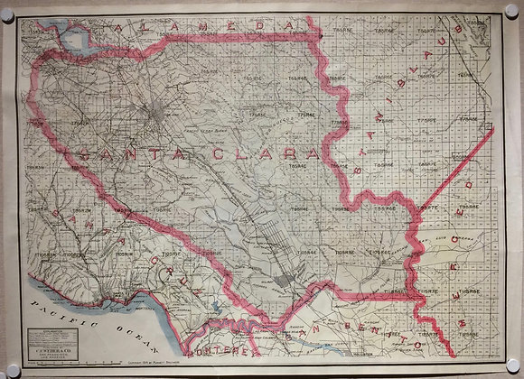 1914 Santa Clara County by CF Weber w/ hand color