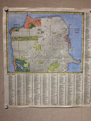 1938 Map of San Francisco by Examiner Publishing