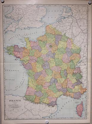 1904 France by Rand McNally