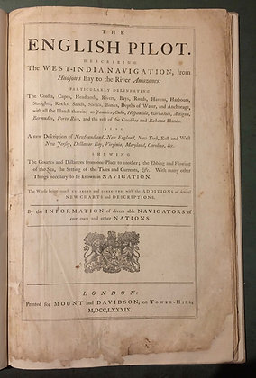 1789 The English Pilot  4th edition , A navigational guide