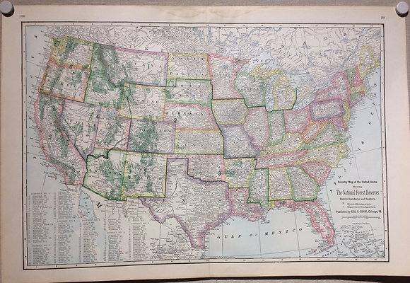 1903 Cram's US National Forests