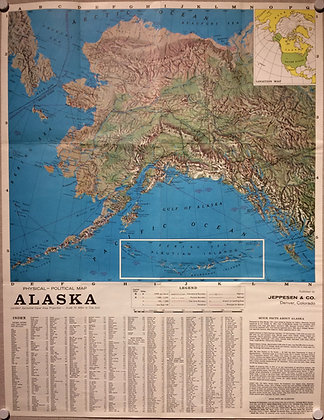 1958 Map of the New State of Alaska by Jeppesen