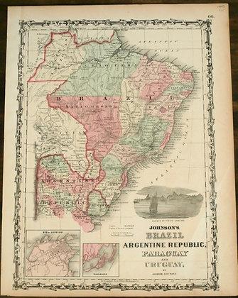 Brazil, Argentina, Paraguay, Uraguay, 1863
