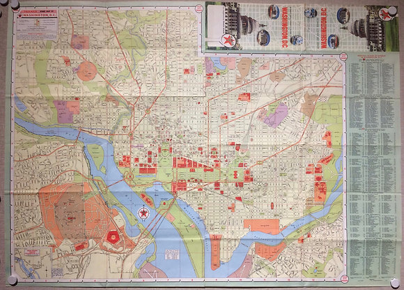 1958 Folding Map of Washington DC