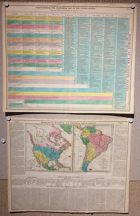1821 North and South America w/ Statistical Sheet w/ OHC