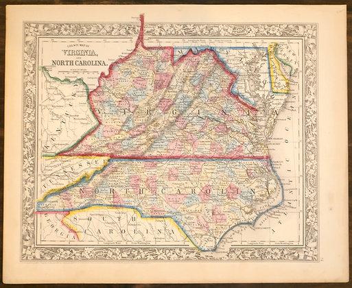 Virginia and North Carolina, 1860