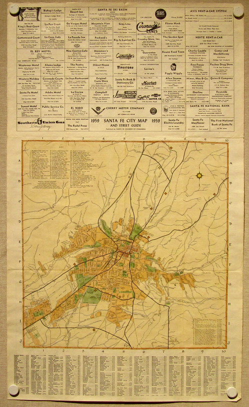 Antique Map of Santa Fe, New Mexico