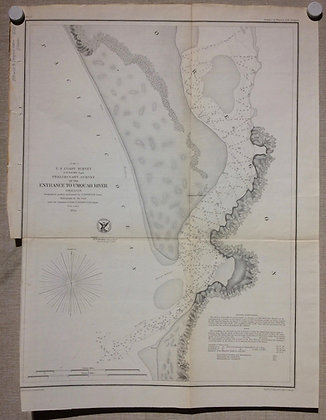 1854 USCS Preliminary Survey of the Entrance to Umquah River