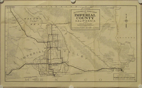 AAA Road Map of Imperial County (CA), c. 1928