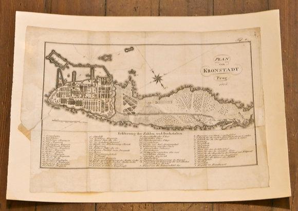 Plan von Kronstadt - Prag - 1808