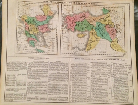 1821 Lavoinese statistical and political maps ofHistory of the Turks