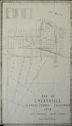 Map of Emeryville, Alameda County, California