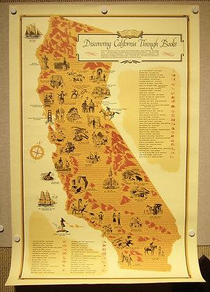 California Literary Map, 1961