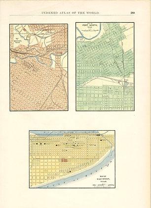 Houston, Fort Worth, and Galveston Texas