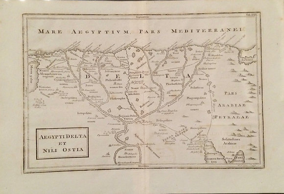 1731 Map of Ancient Egypt by Christopher Cellarius