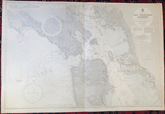 1965 Oceanic Chart of the Entrance to SF Bay with the city