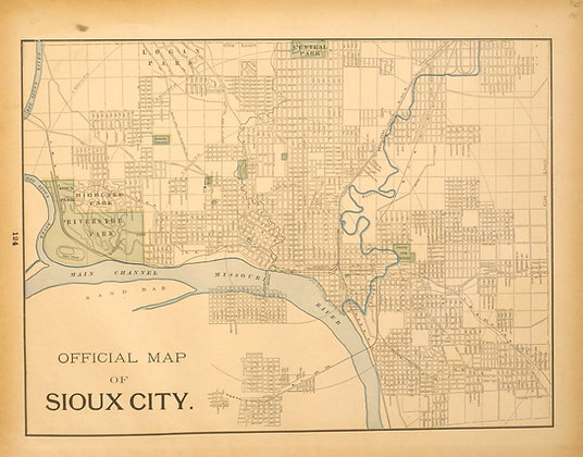 Map of Sioux City, IA