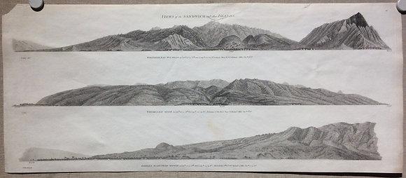 1798 La perous views of Hawaii in copper engraving