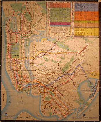 New York Transit Map, 1980