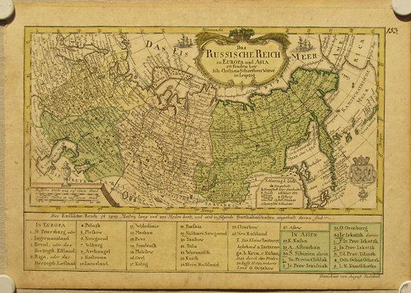Das Russische Reich in Europa und Asia, c. 1750