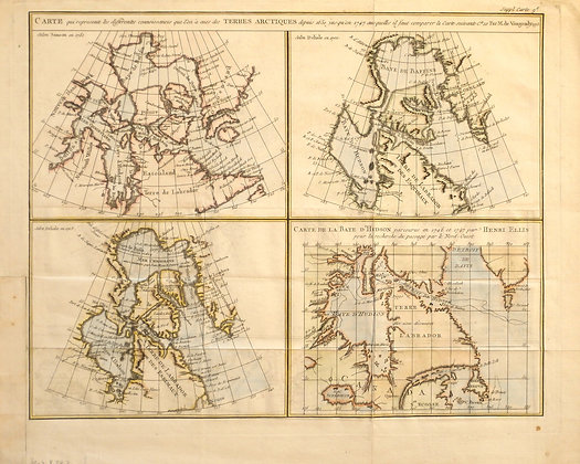Carte des Terres Arctiques