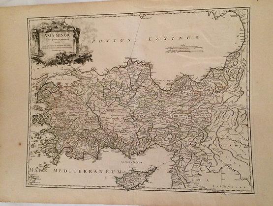 1757 Map of Asia Minor by Robert-Devogondy