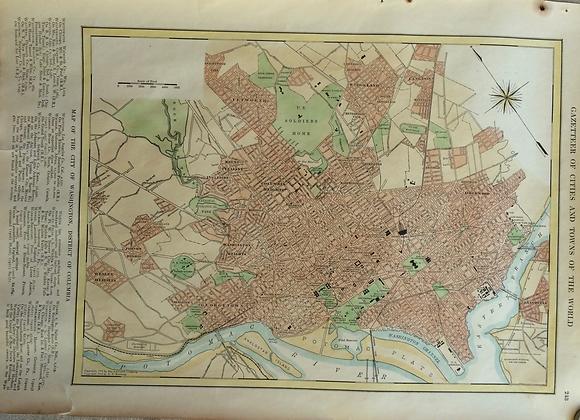 1927School Map of Washinton District of Columbia