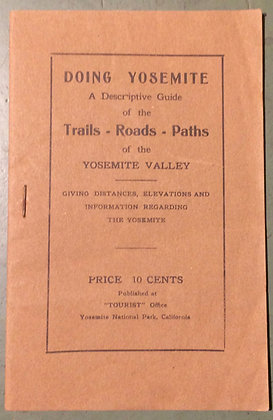 1911 Yosemite Guide for walking